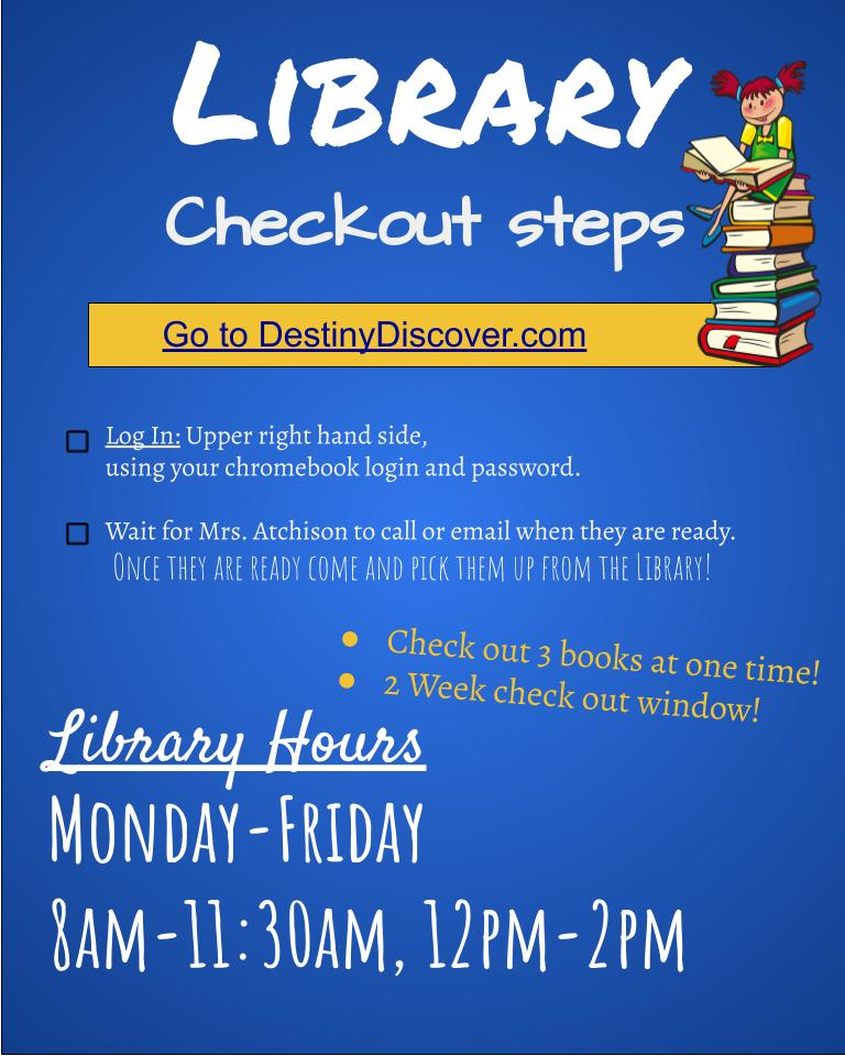 Library Time! Starts August 24th!
