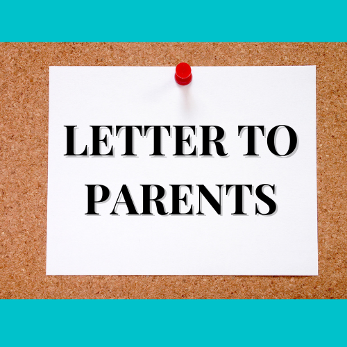 Letters to Parent - School Opening